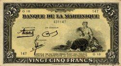 25 Francs Type 1942 MARTINIQUE  1942 P.17 pr.SUP