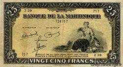25 Francs Type 1942 MARTINIQUE  1945 P.17 TTB