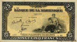 25 Francs Type 1942 MARTINIQUE  1945 P.17 TTB+