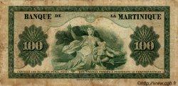100 Francs type 1942 MARTINIQUE  1944 P.19 pr.TB