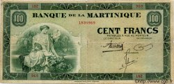 100 Francs type 1942 MARTINIQUE  1942 P.19 TB