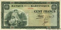 100 Francs type 1942 MARTINIQUE  1942 P.19 TTB+
