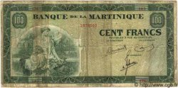 100 Francs type 1942 MARTINIQUE  1945 P.19 B à TB