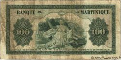 100 Francs MARTINIQUE  1945 P.19 B à TB