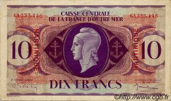 10 Francs type 1943 MARTINIQUE  1943 P.23 TTB