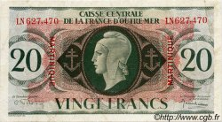 20 Francs MARTINIQUE  1943 P.24 TB