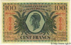 100 Francs type 1943 MARTINIQUE  1943 P.25 SPL