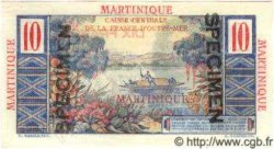 10 Francs Colbert MARTINIQUE  1946 P.28s NEUF