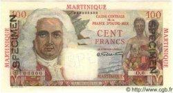 100 Francs MARTINIQUE  1947 P.31s NEUF