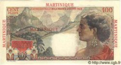 100 Francs La Bourdonnais MARTINIQUE  1946 P.31s SPL