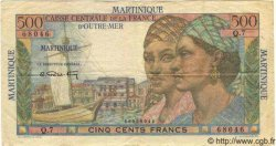 """500 Francs """"pointe-a-pitre"""" MARTINIQUE  1949 P.32 TTB"""