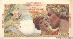 1000 Francs Union Française MARTINIQUE  1946 P.33s SUP
