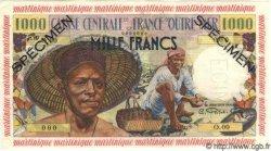 1000 Francs pêcheur MARTINIQUE  1955 P.35s NEUF