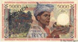 """5000 Francs """"antillaise"""" MARTINIQUE  1955 P.36s SPL"""