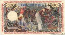 "5000 Francs ""antillaise"" MARTINIQUE  1955 P.36s NEUF"