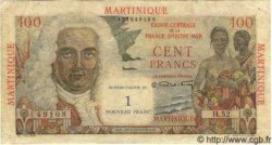 1 NF sur 100 Francs MARTINIQUE  1960 P.37 TB à TTB