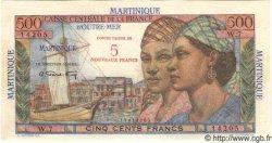 5 Nf sur 500 Francs Pointe-a-pitre MARTINIQUE  1960 P.38 pr.NEUF