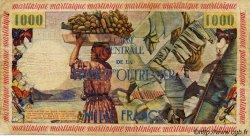 10 NF sur 1000 Francs MARTINIQUE  1960 P.39 TB+
