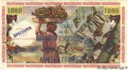 10 NF sur 1000 Francs MARTINIQUE  1960 P.39s pr.NEUF