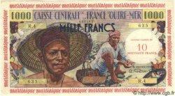 10 NF sur 1000 Francs pêcheur MARTINIQUE  1960 P.39 TTB+