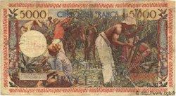 50 Nf sur 5000 Francs Antillaise MARTINIQUE  1960 P.40 B