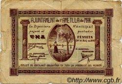 1 Pesseta ESPAGNE  1937 C.040 B+ à TB