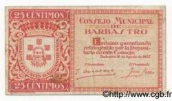 25 Centimos ESPAGNE  1937 E.127 TB