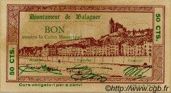 50 Centims ESPAGNE Balaguer 1937 C.070a SUP