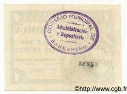 1 Peseta ESPAGNE Barbastro 1936 E.127a SPL