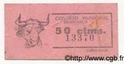 50 Centimos ESPAGNE Benicarlo 1936 E.160 TTB