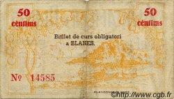 50 Centims ESPAGNE Blanes 1937 C.112 TB à TTB
