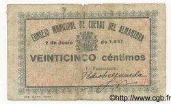 25 Centimos ESPAGNE  1937 E.--(cf.299) TB