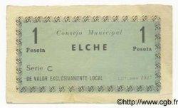 1 Peseta ESPAGNE  1937 E.-- TTB