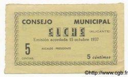 5 Centimos ESPAGNE  1937 E.-- SPL