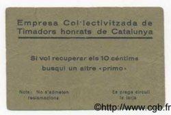 10 Centims ESPAGNE  1937 C.-- TTB