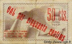 50 Centims ESPAGNE Figueres 1937 C.237a TB