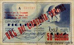 50 Centims ESPAGNE  1937 C.237a TB