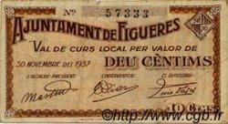 10 Centims ESPAGNE Figueres 1937 C.237b TTB