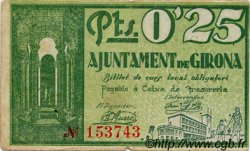 0,25 Pesseta ESPAGNE Girona 1937 C.265a TB