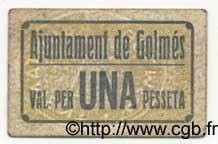 1 Pesseta ESPAGNE Golmes 1936 C.270 pr.TTB