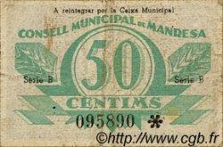 50 Centims ESPAGNE Manresa 1937 C.337 pr.TTB