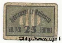 25 Centims ESPAGNE Mollerussa 1936 C.360 TB
