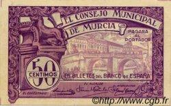 50 Centimos ESPAGNE Murcia 1937 E.522a SPL