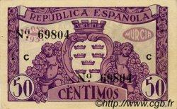 50 Centimos ESPAGNE  1937 E.522a SPL