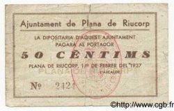50 Centims ESPAGNE  1937 C.448b TB