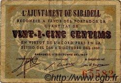 25 Centims ESPAGNE  1937 C.536a pr.TB