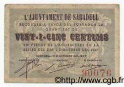25 Centims ESPAGNE  1937 C.536a TB+