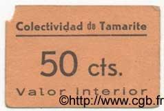 50 Centimos ESPAGNE Tamarite 1936 E.--(720a) TTB