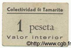 1 Peseta ESPAGNE Tamarite 1936 E.--(720a) TTB
