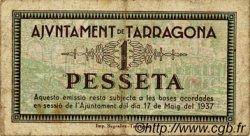 1 Pesseta ESPAGNE Tarragona 1937 C.585 TB